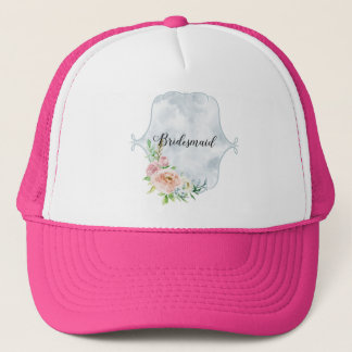 Bridesmaid Periwinkle Vignette Trucker Hat