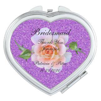 Bridesmaid Personalised Glitter Vanity Mirror