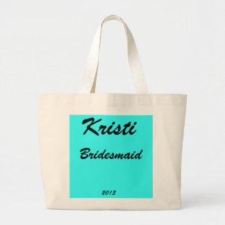 Bridesmaid Personalized Large Tote Bags