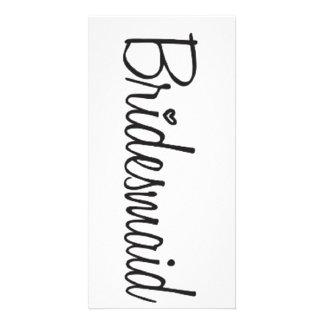 Bridesmaid Personalised Photo Card