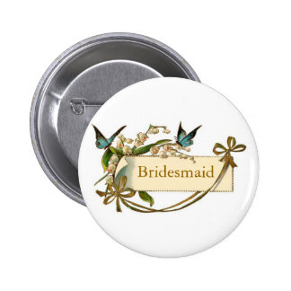 Bridesmaid Pin with Bows and Butterflies