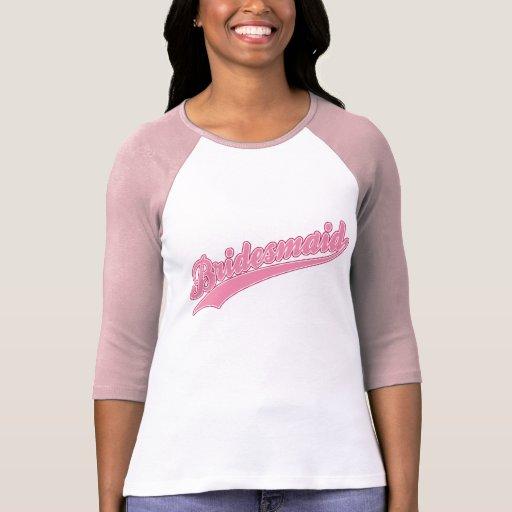 Bridesmaid Pink Baseball Tee