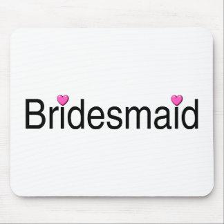 Bridesmaid Pink Hearts Mousepads