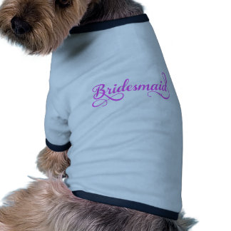 Bridesmaid, pink word art text design for t-shirt dog tee