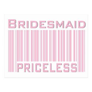 Bridesmaid Priceless Postcard