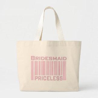 Bridesmaid Priceless Canvas Bags