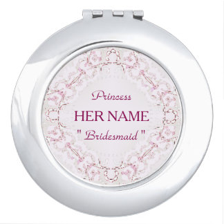 """Bridesmaid ""  Princess_Template_Lace_ Makeup Mirror"