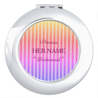 Bridesmaid-Princess-Template-Stripes-Favors_ Travel Mirror