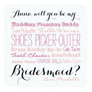 Bridesmaid Proposal Card Ask Bridesmaid