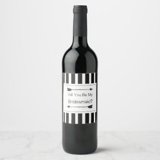 Bridesmaid Proposal Gift Wine Label