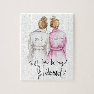 Bridesmaid? Puzzle Dk Bl Bun Bride Dk Bl Bun Bm