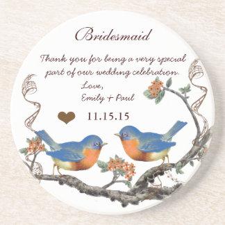 Bridesmaid Reception Vintage Bird Coasters