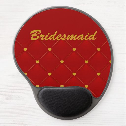 Bridesmaid (red/gold) gel mouse pads