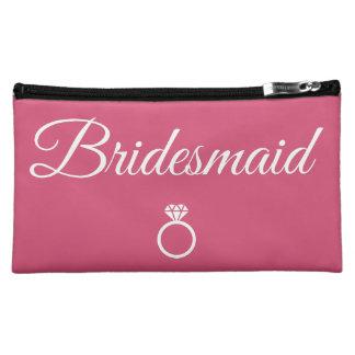 Bridesmaid ring makeup bags