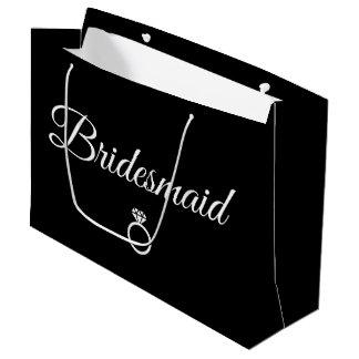 Bridesmaid ring large gift bag