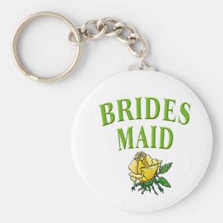 bridesmaid- rose keychains