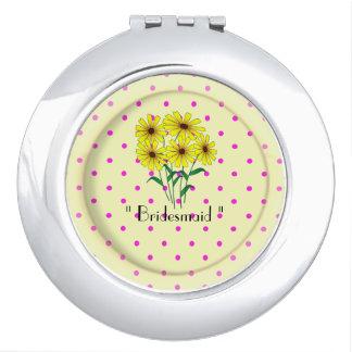 """Bridesmaid "" Round* -TEMPLATE-Vivid-Flowers Vanity Mirror"