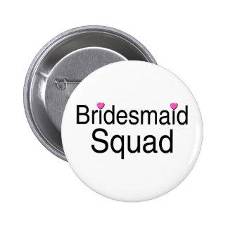 Bridesmaid Squad 6 Cm Round Badge
