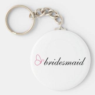 Bridesmaid Stylish Butterfly Wedding Gift Basic Round Button Key Ring