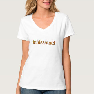 Bridesmaid T-Shirt - Glitter Bridesmaid Name Shirt