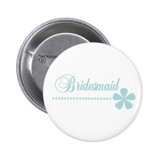 Bridesmaid Teal Elegance 6 Cm Round Badge