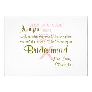 Bridesmaid | Template Card