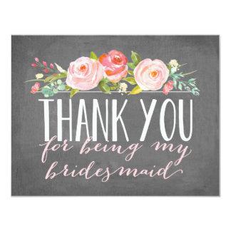 Bridesmaid Thank You | Bridesmaid 11 Cm X 14 Cm Invitation Card