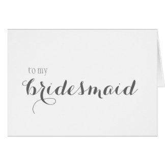 Bridesmaid Thank You Note Card
