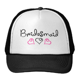 Bridesmaid Three Hearts Cap