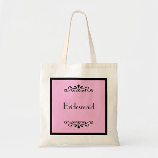 Bridesmaid Tote Bag -- Custom Background Color