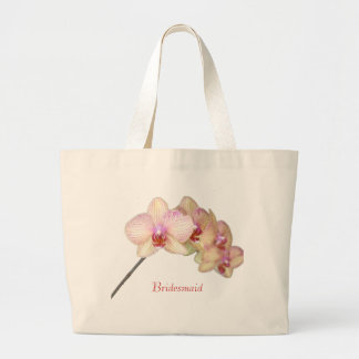 Bridesmaid  Tropical Beautiful Pink Orchid Large Tote Bag