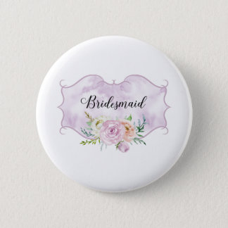 Bridesmaid Violet Vignette 6 Cm Round Badge