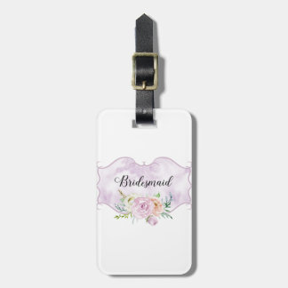 Bridesmaid Violet Vignette Luggage Tag