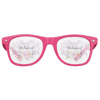Bridesmaid Violet Vignette Retro Sunglasses