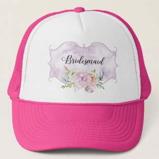 Bridesmaid Violet Vignette Trucker Hat