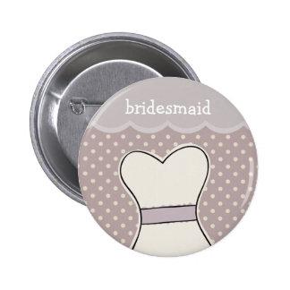 Bridesmaid -- Wedding dress // PURPLE 6 Cm Round Badge