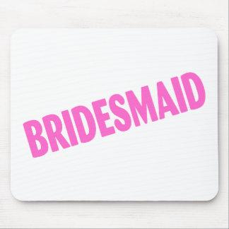 Bridesmaid Wedding Pink Mouse Pads