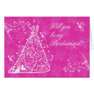 Bridesmaid, Will you be my bridesmaid? Card