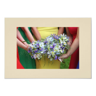 Bridesmaids Bouquet Card