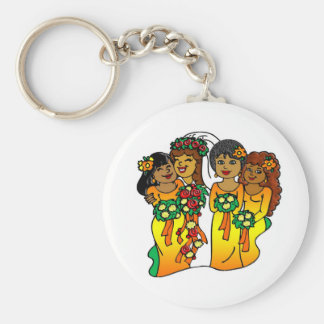 Bridesmaids in Colors of the Sun Key Chains