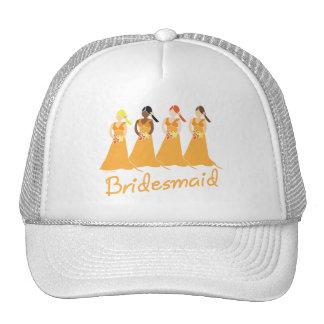 Bridesmaids in Peach Wedding Attendant Hat