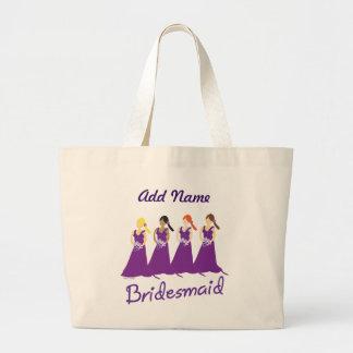 Bridesmaids in Purple Jumbo Tote Bag