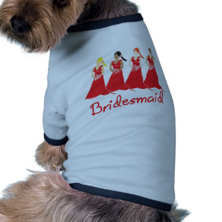 Bridesmaids in Red Wedding Attendant Pet T Shirt