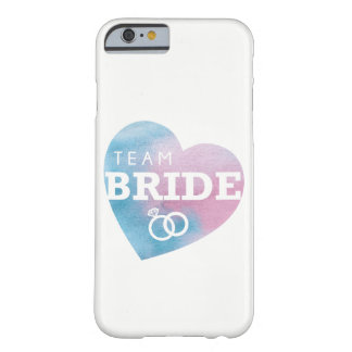 Bridesmaids iPhone Case Blue Team Bride heart