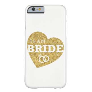 Bridesmaids iPhone Case Team Bride Gold Glitter