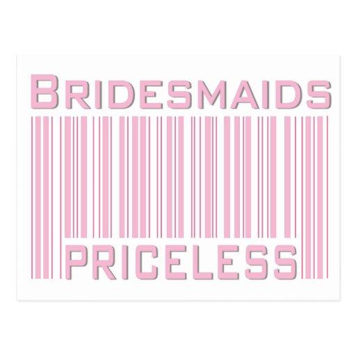 Bridesmaids Priceless Postcard