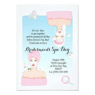 Bridesmaid's Spa Day Invitation