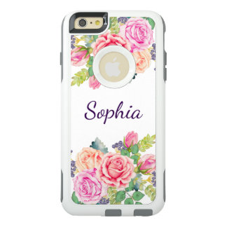 Bridesmaid's Vintage Floral Roses Modern Wedding OtterBox iPhone 6/6s Plus Case