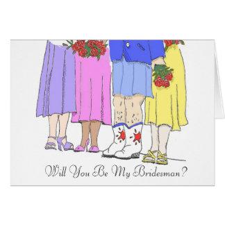 Bridesman, Will You Be My Bridesman? Card