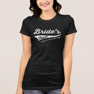 Brides's Team Custom Wedding Bachelorette Party T-Shirt